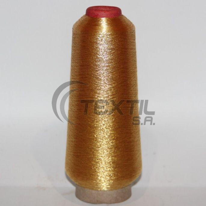 """Linha de bordar metalizada código SA.01.01.0003 """"Ouro Japão """""""