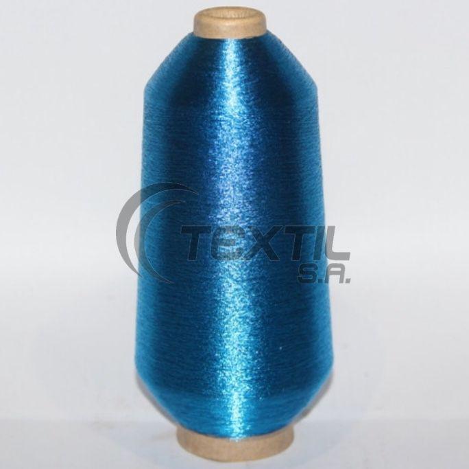 """Linha de bordar metalizada código SA.01.01.0012 """"Azul"""""""