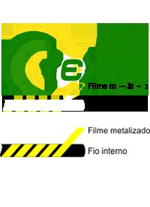 """Linha de bordar metalizada mesclada código SA.01.02.0044 """"Ouro com Preto"""""""