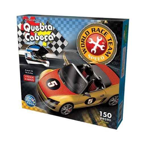 Quebra-cabeça Cartonado Premium Race 150 Peças Pais E Filhos