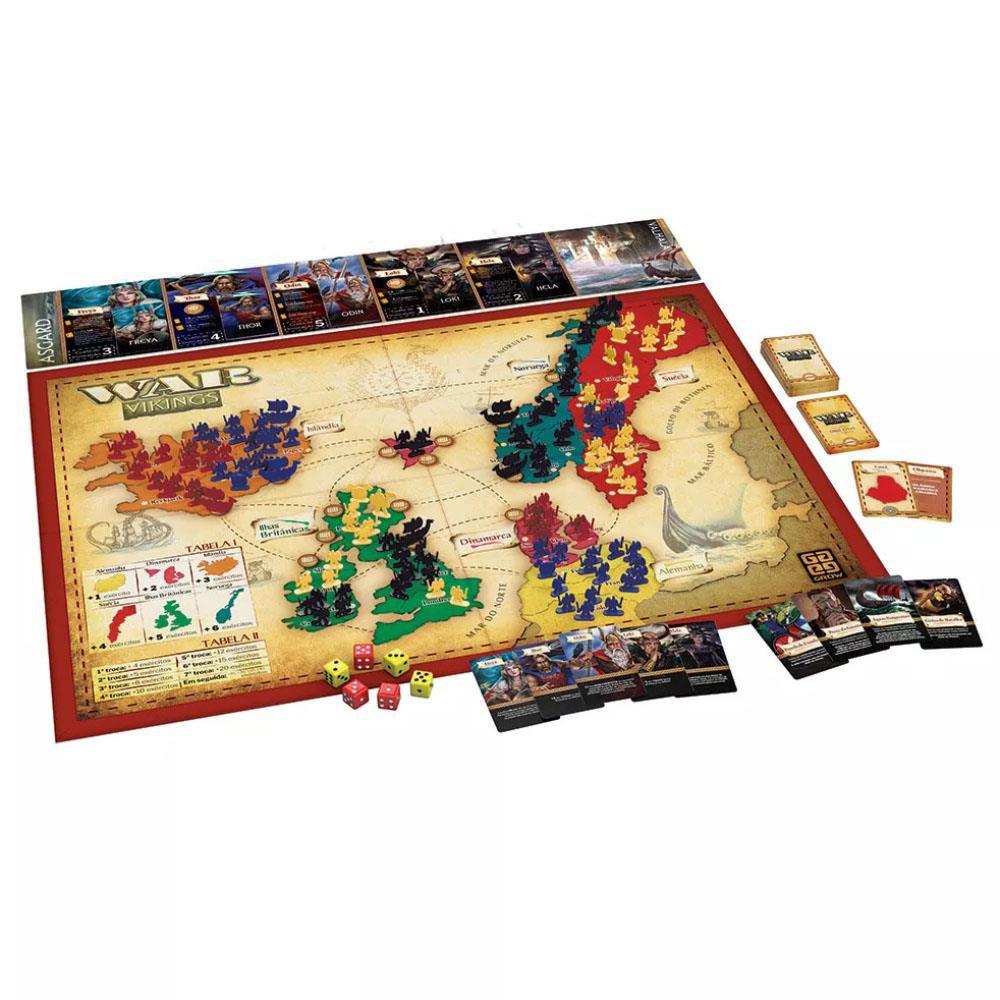 Jogo War Vikings - Jogo De Tabuleiro Estrategia da Grow