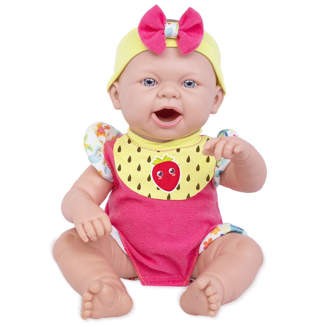 Boneca Baby Ninos Hora do Lanche Reborn = Fralda
