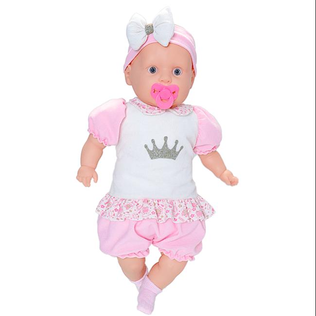 Boneca Bebezão Tipo Bebê Reborn c/ Macacão Curto