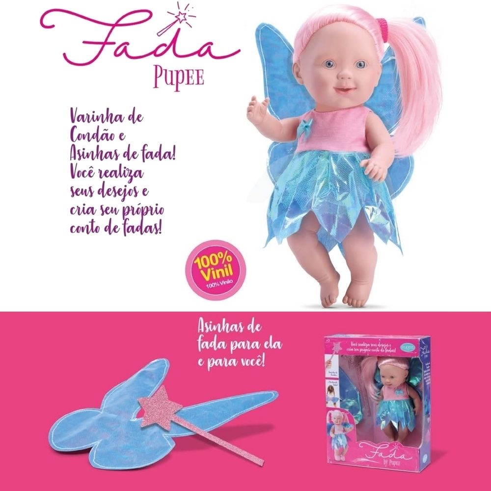 Boneca Fada Pupee - Pupee Brinquedos