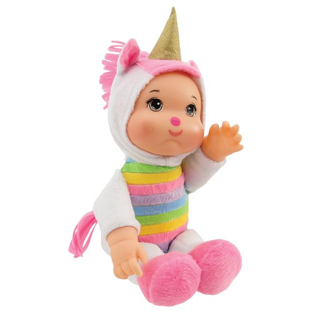 Boneca Pelúcia Amiguinhos da Floresta Unicórnio Fluffy
