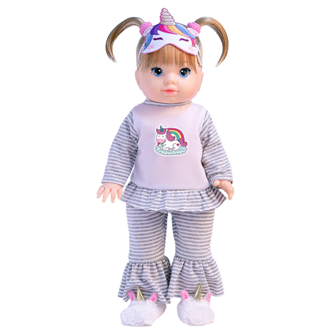 Boneca Real Pijama Unicórnio Hora da Soneca