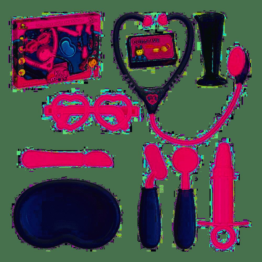 Brincando De Profissões Kit Medica 9 Peças Art Brink Multicor