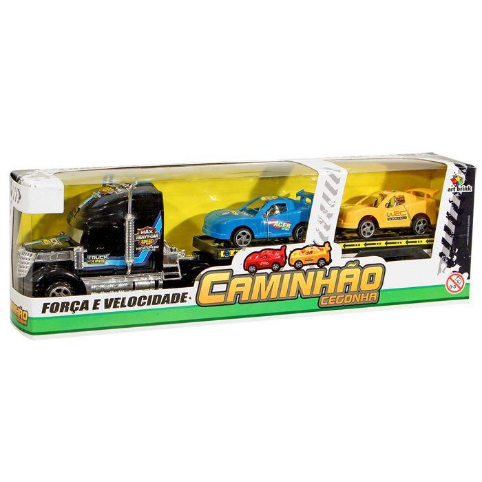 Caminhão Cegonha Com Carros Fricção