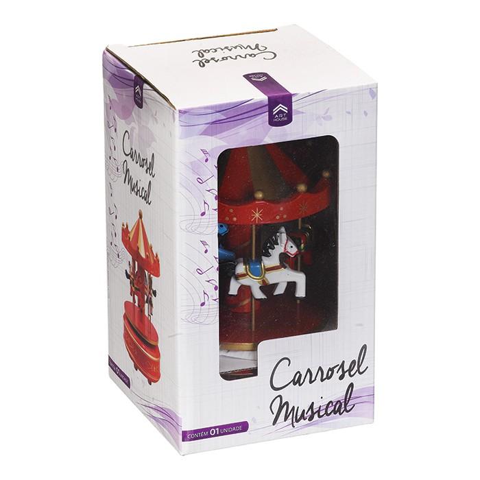 Carrossel Musical Caixa De Música Cavalinhos Natal