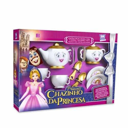 Chazinho Da Princesa Jogo De Chá Infantil 9 Peças