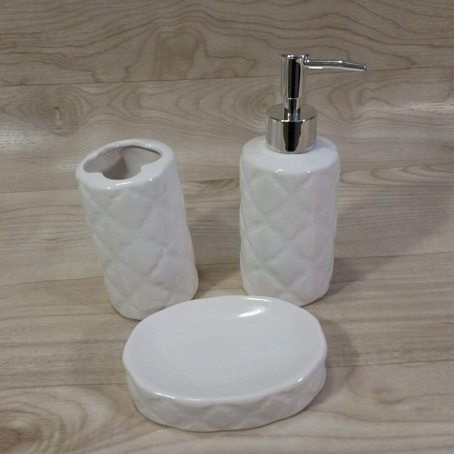 Conjunto Para Banheiro Porcelana 3 Peças