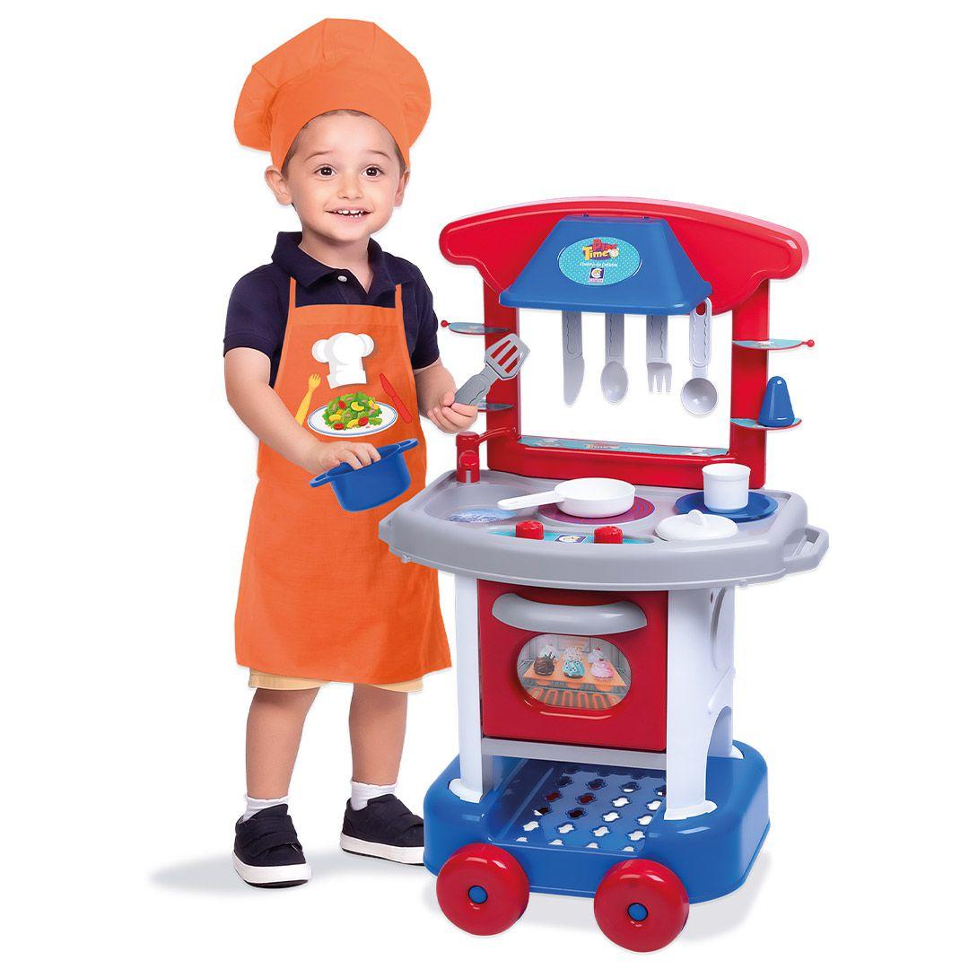 Cozinha Infantil Play Time com Acessórios - Cotiplás 2421