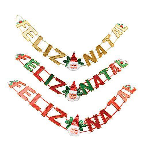 Faixa Feliz Natal Art Christmas 1.35 X 20 cm