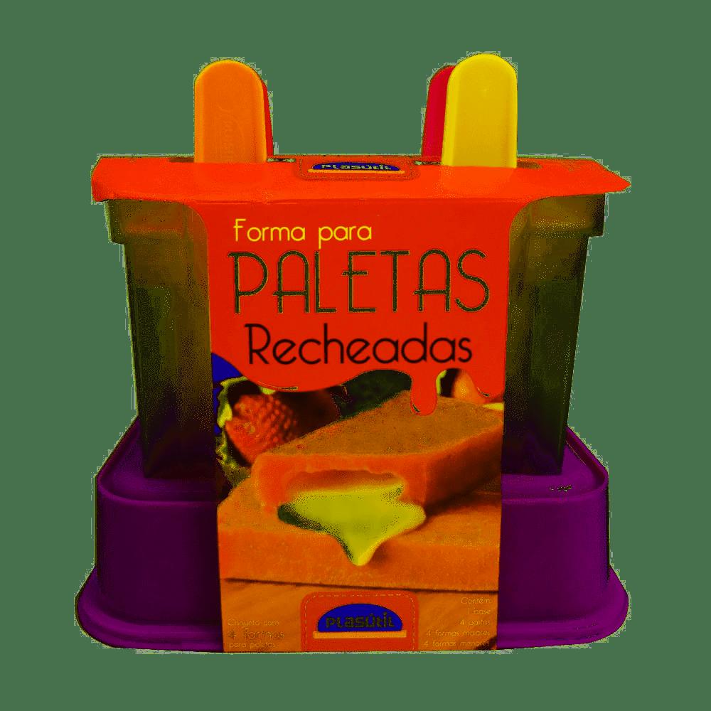 Kit 4 Formas Picolé Paletas Recheadas - Plasutil