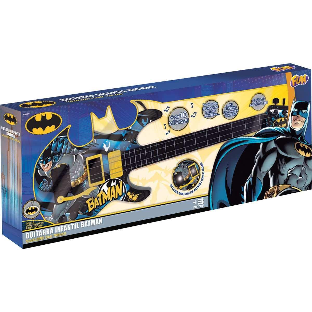 Guitarra Infantil Cavaleiro das Trevas Batman