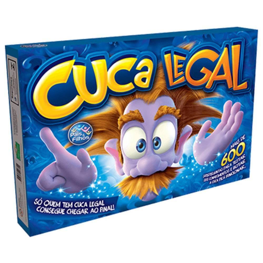 Jogo Cuca Legal Jogo Com 672 Perguntas + Tabuleiro + 6 Peões E Dados