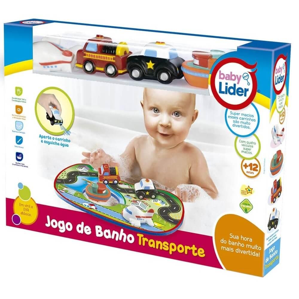 Jogo De Banho Tema Transportes - Lider