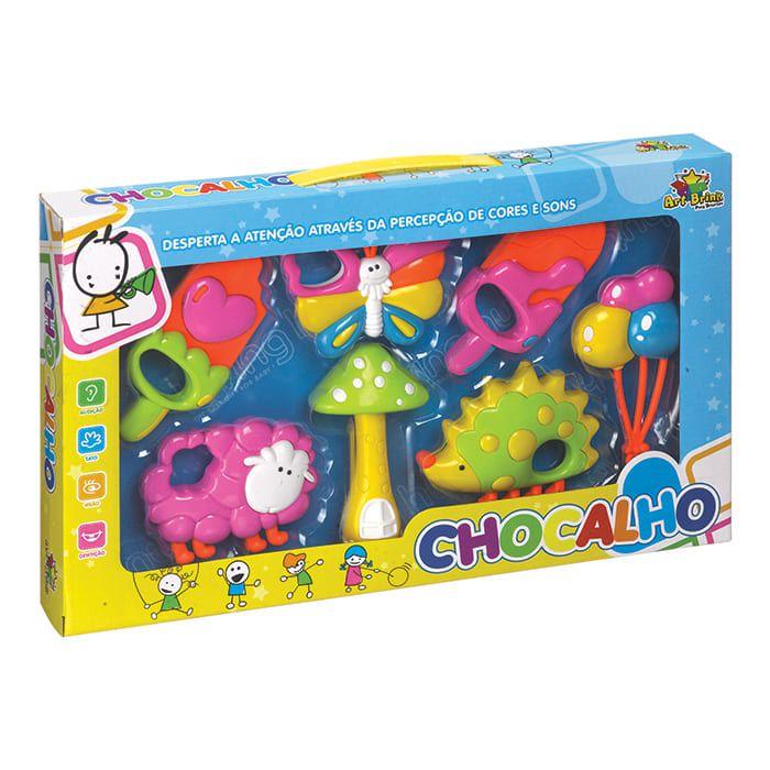 Brinquedo Para Bebe Chocalho Baby C/7 Pecas - Art Brink
