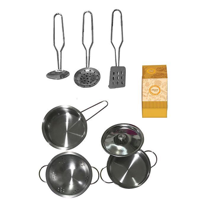 Kit Cozinha Inox Infantil Com 08 Peças