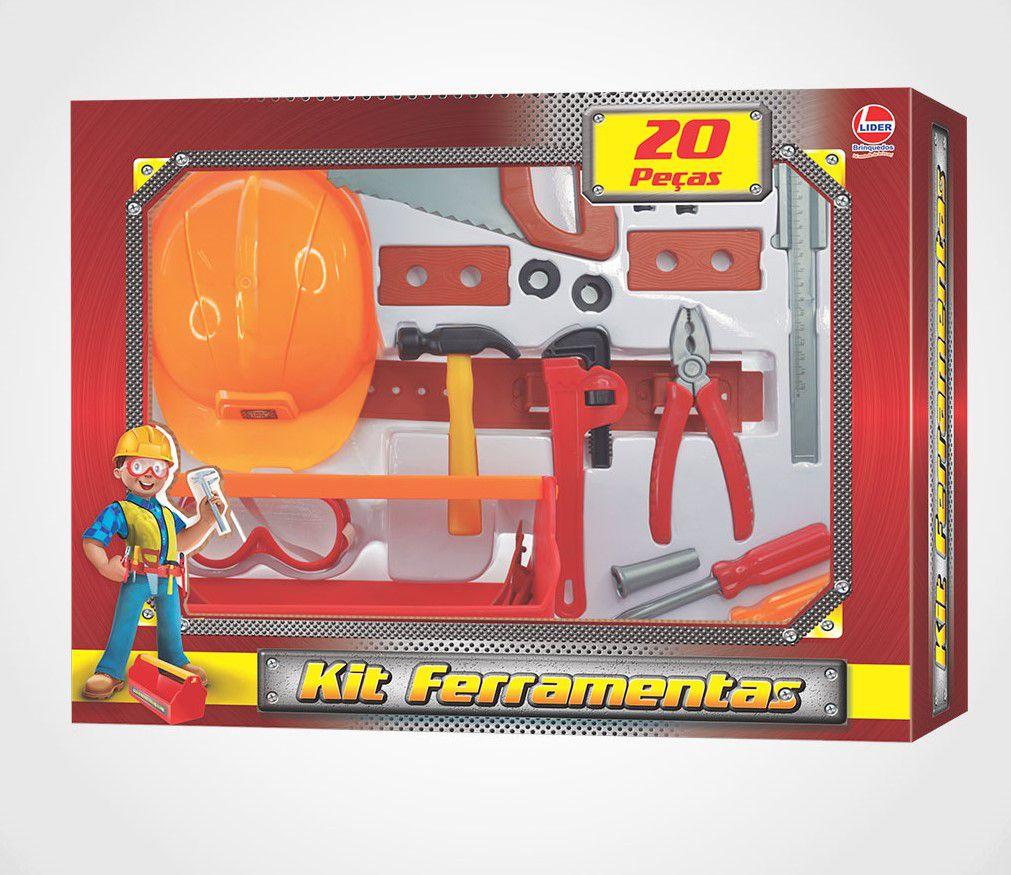 Kit De Ferramentas De Brinquedo - Kit Com 20 Peças - Lider