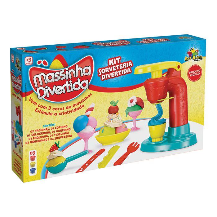 Kit Massinha Divertida Sorveteria - Art Brink