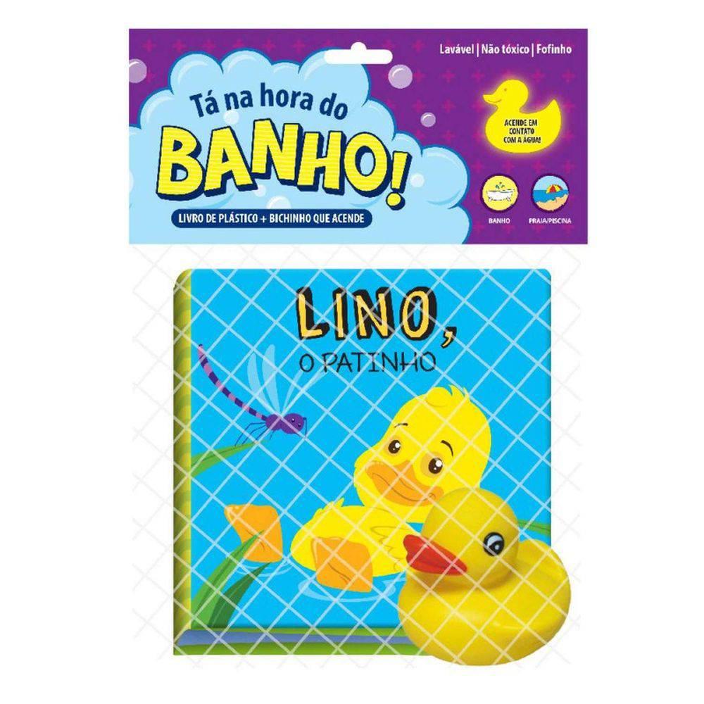 Livro Para Banho Lino O Patinho C/ Brinquedo