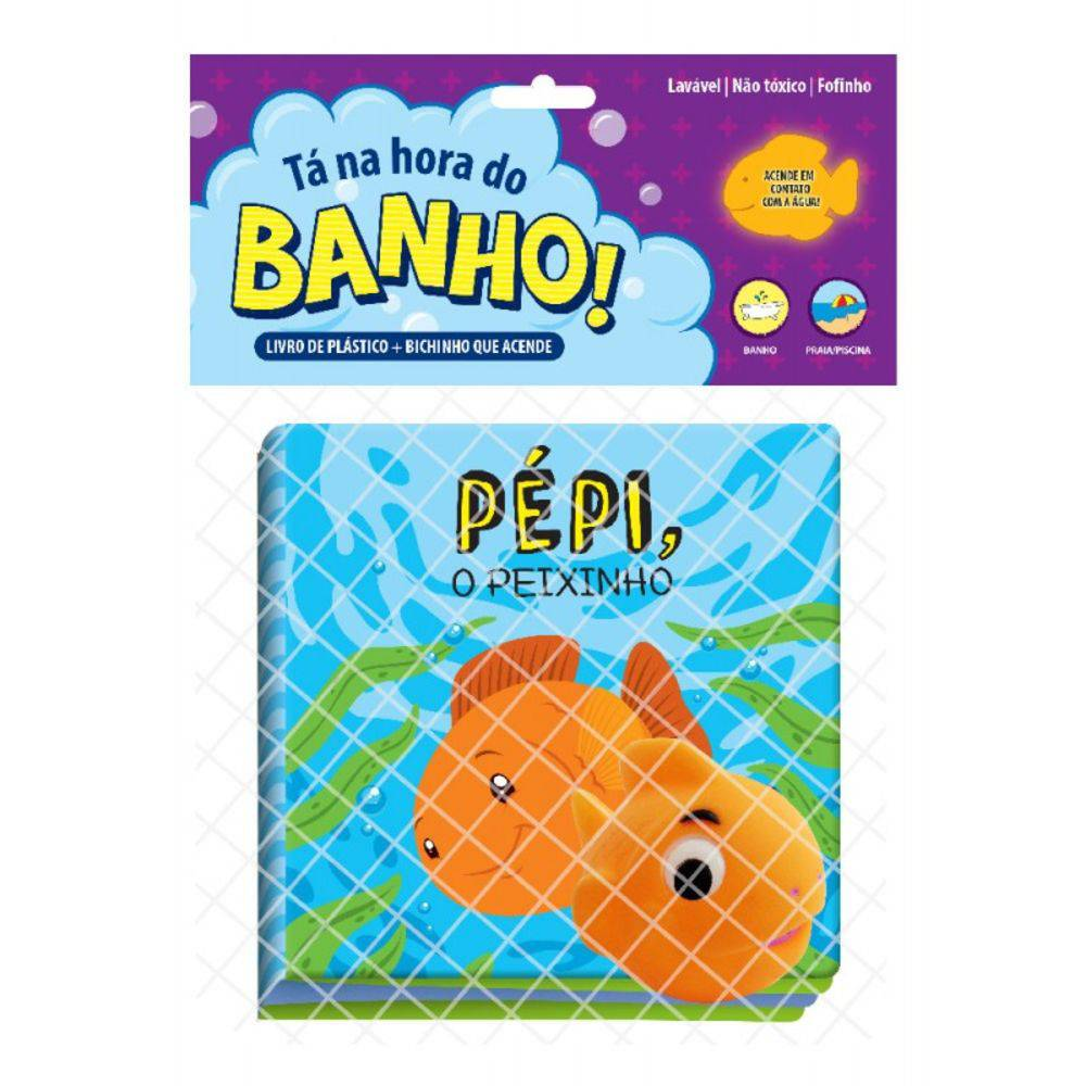 Livro Para Banho Pepi O Peixinho Com Brinquedo
