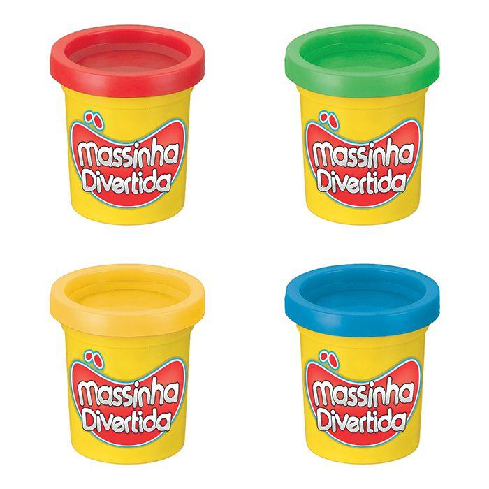 Massinha Divertida 4 Potes 55g - Art Brink