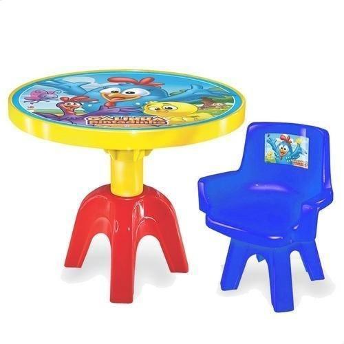 Mesa com Cadeira - Galinha Pintadinha - Vermelha - Lider