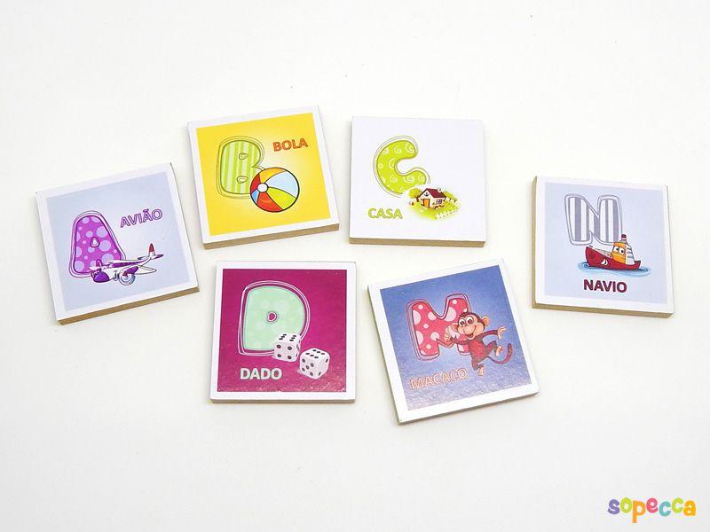 Meu Alfabeto Ilustrado 26 peças - Sopecca  ALF 001
