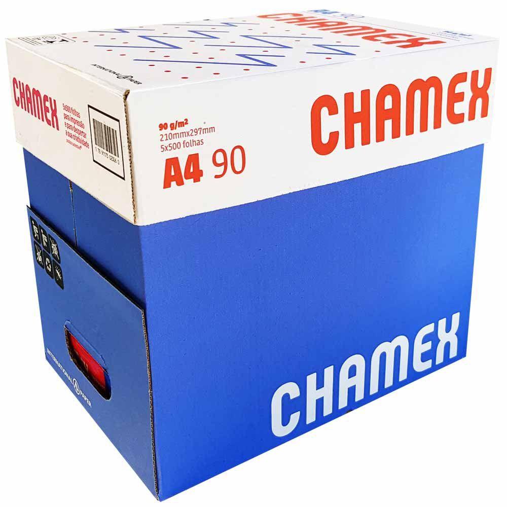Papel Chamex Super Sulfite A4 90G Pct c/5 2500 fls CMX090CA4