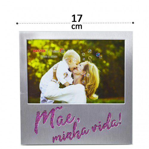Porta Retrato 15x10 Moldura De Metal Mãe Com Brilho