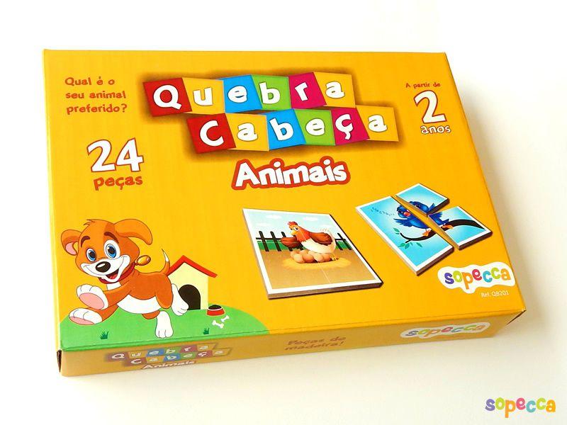 Quebra-Cabeça Animais 24 Peças - Sopecca QB201