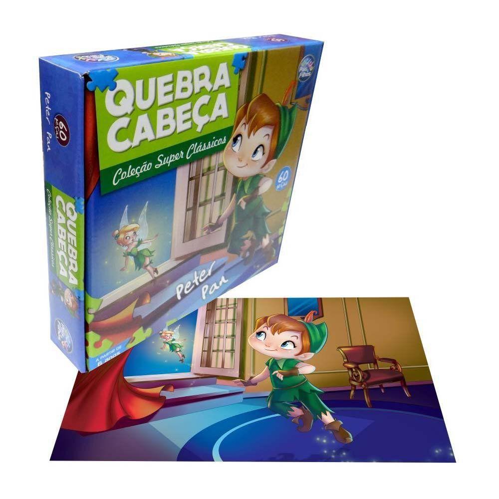 Quebra Cabeça Infantil Peter Pan com 60pçs - Pais e Filhos