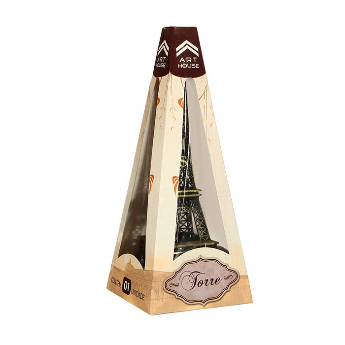 Torre Eiffel Decorativa Metal 25 cm