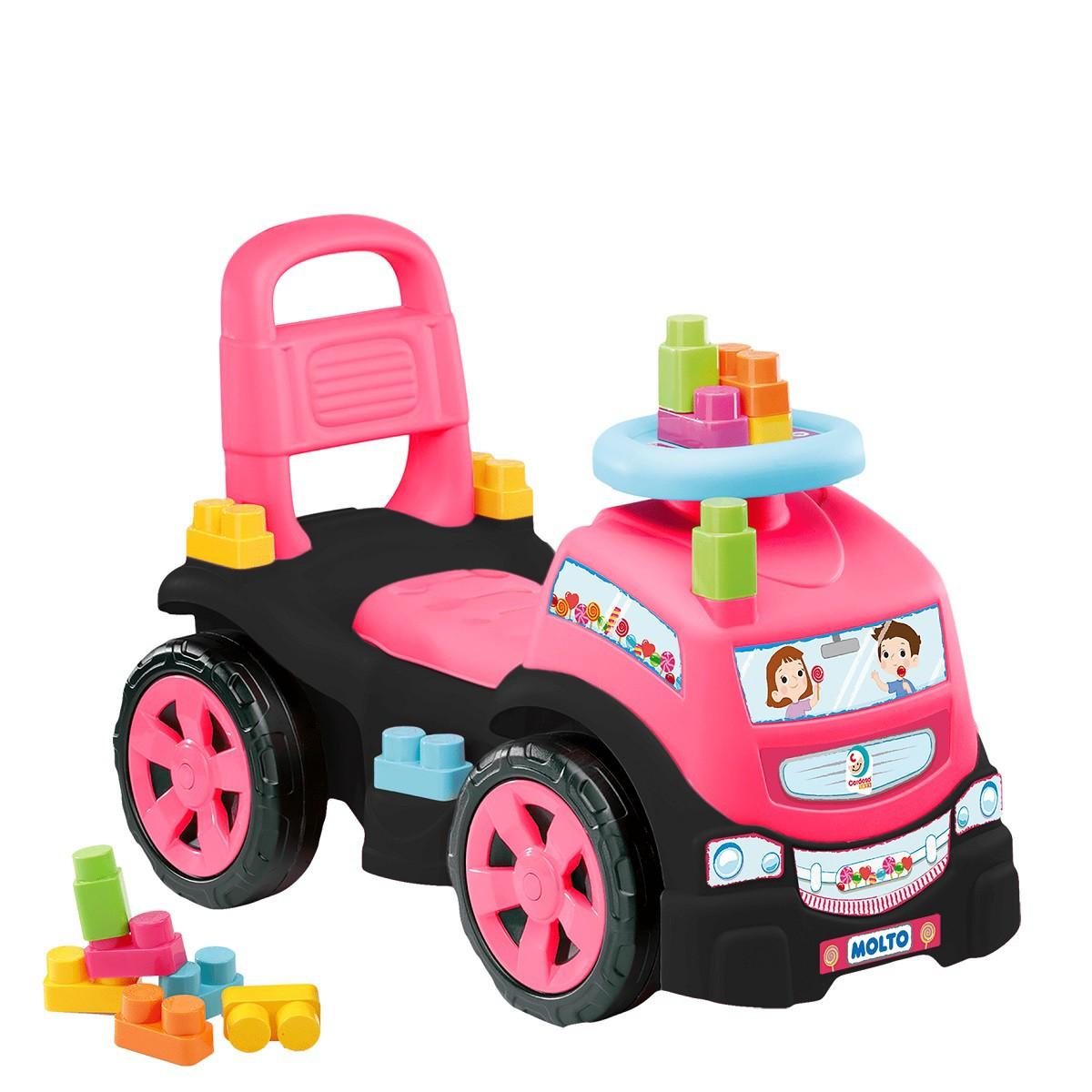 Totoka De Empurrar Blocks Truck In Ride Baby Land Menina - Cardoso Toys