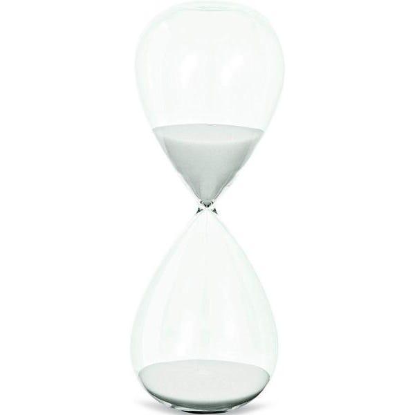 Ampulheta Branca em Vidro - Mart Collection
