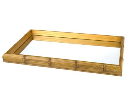 Bandeja Madeira com Espelho Bambu - Rojemac  - Haus In