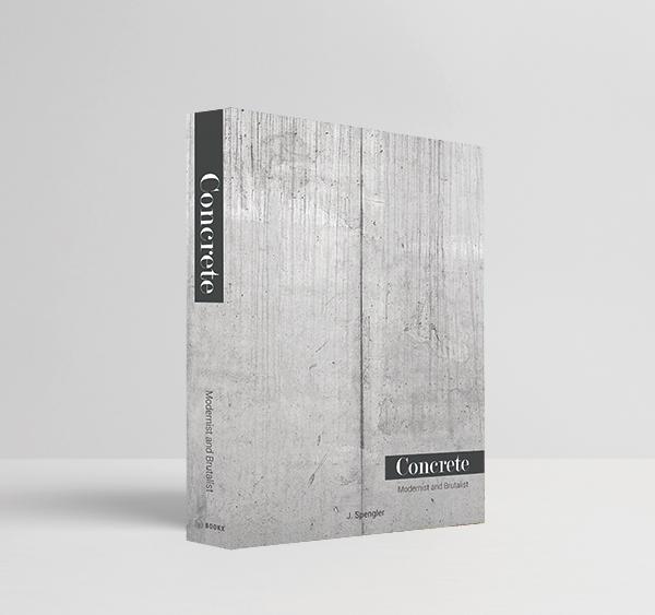 Book Box Concrete Modernist 36x27x5cm - Goods Br