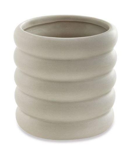 Cachepot Cinza em Cerâmica