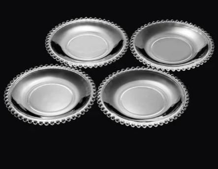 Conjunto 4 Pratos Cristal Pearl 20cm - Wolff