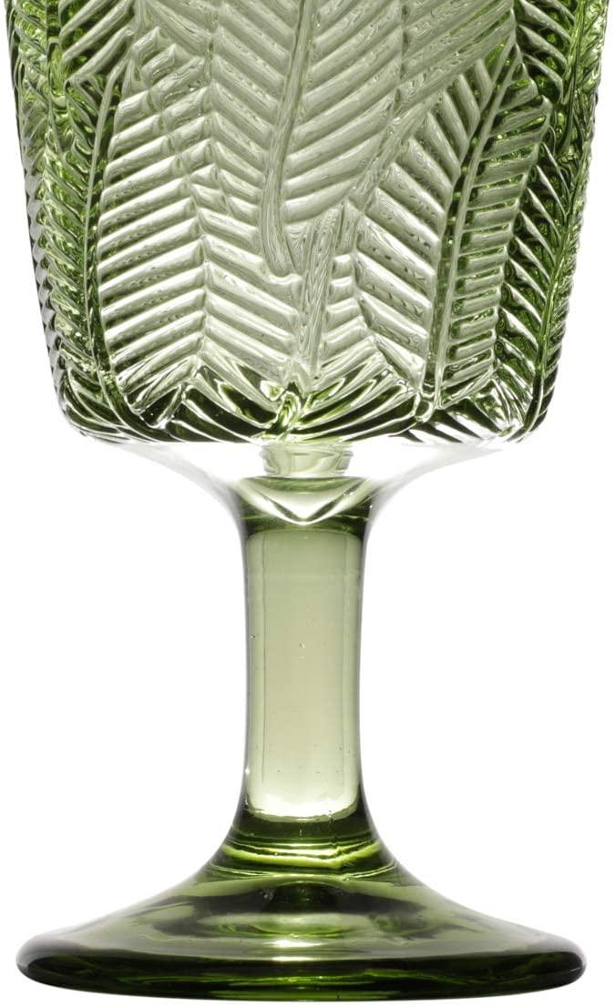 Conjunto 6 Taças de Vidro Leaves Verde 320ml - Bon Gourmet