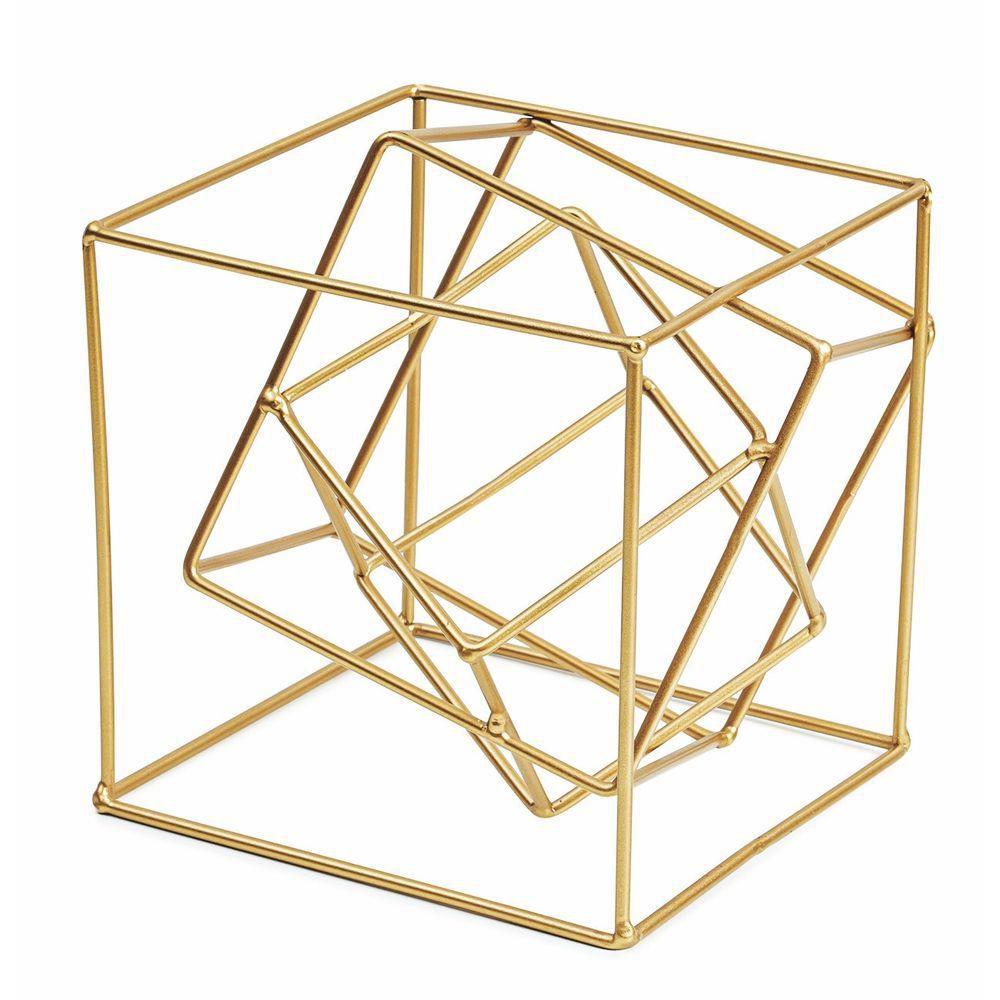 Cubo Dourado em Metal - Mart Collection
