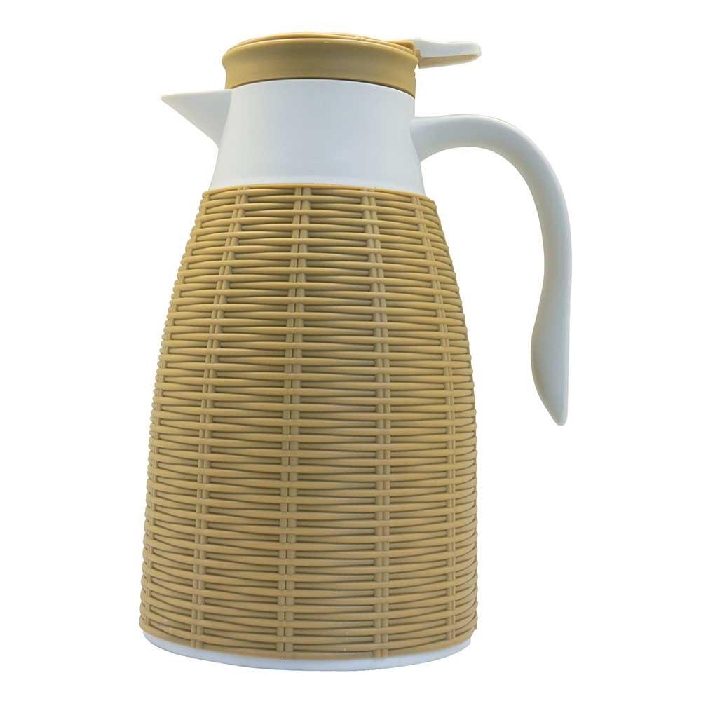 Garrafa Térmica Revestida com Rattan de Plástico 1L - Dynasty  - Haus In