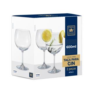 Jogo de 2 taças para Gin Tônica em Cristal Ecológico 600ml - Full Fit  - Haus In