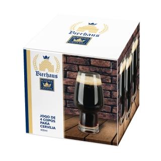 Jogo de 4 Copos para Cerveja Stout em Cristal 400ml - Bohemia  - Haus In