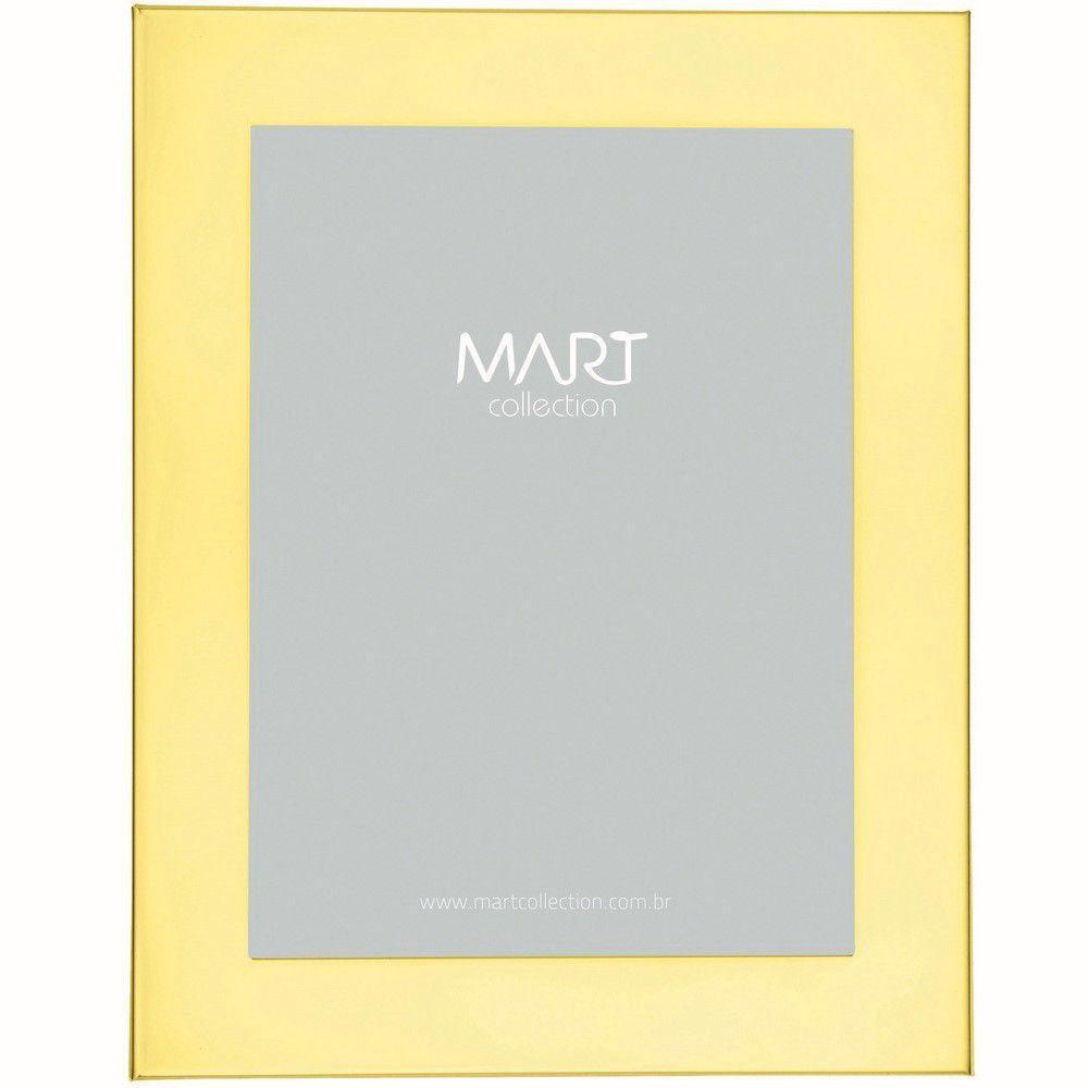 Porta Retrato Dourado em Metal 10x15cm - Mart Collection