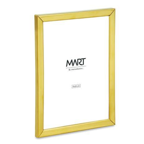 Porta Retrato Dourado em Metal 15x20cm - Mart Collection  - Haus In