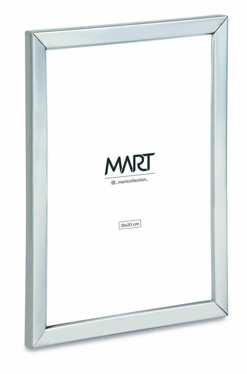 Porta Retrato Prata em Metal 15x20  - Haus In