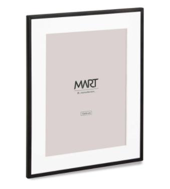 Porta Retrato Preto em Metal 10x15  - Haus In